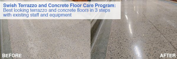 Swish Terrazzo Care Program - Before and After